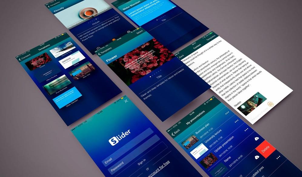 Slider ios presentation app Artrange portfolio