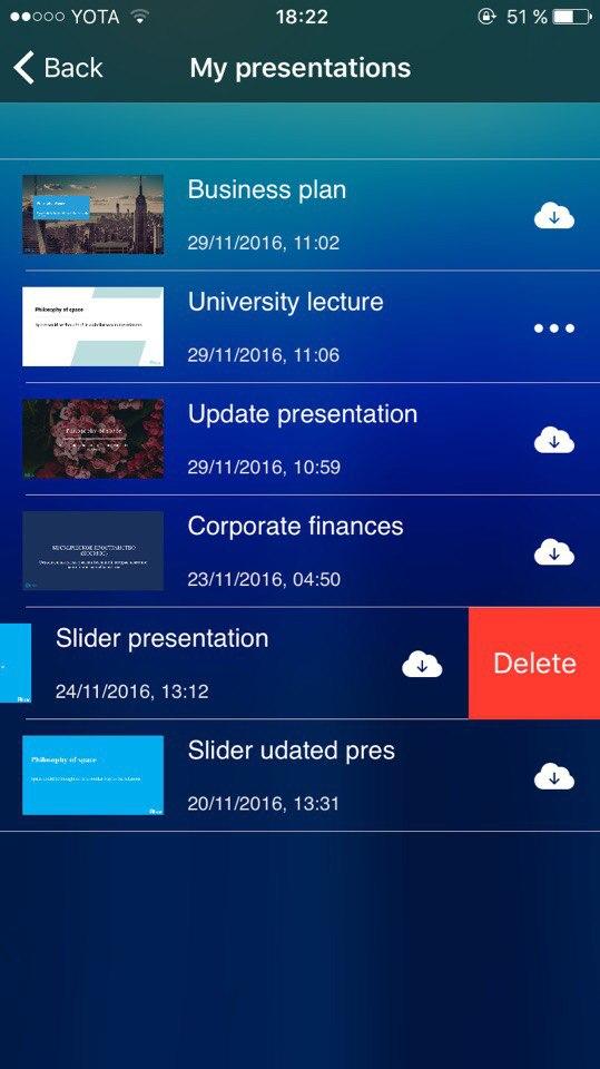 Slider - сохранение презентаций PowerPoint в облаке