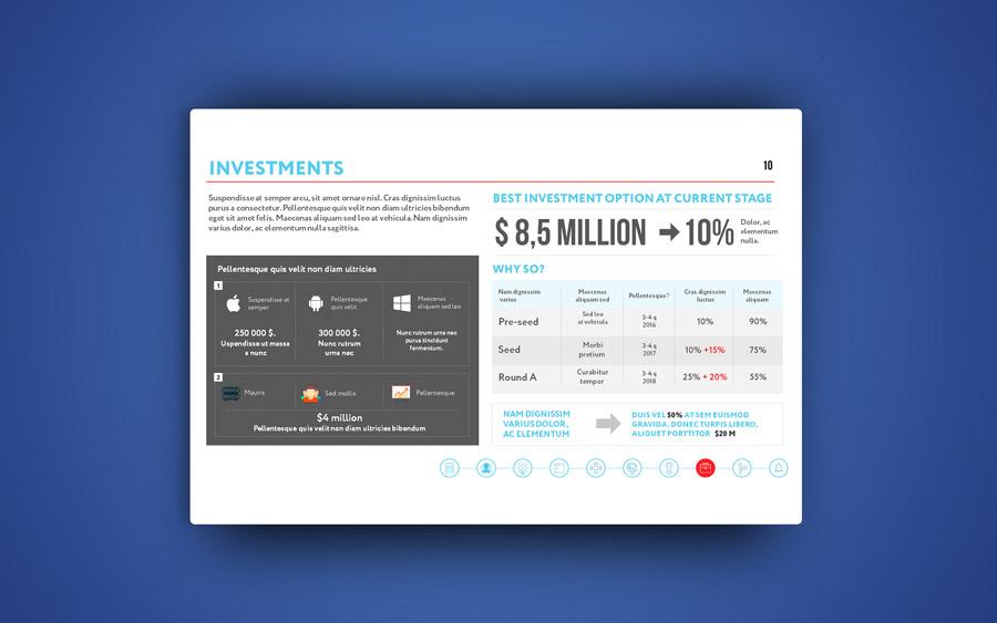 Разработка инвестиционной презентации для социальной сети