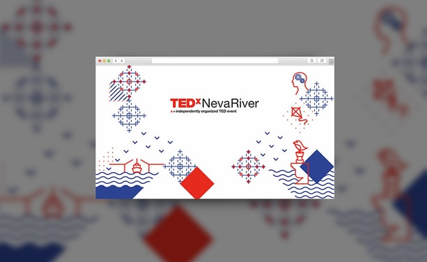 Разработка фирменного стиля для TEDx NevaRiver