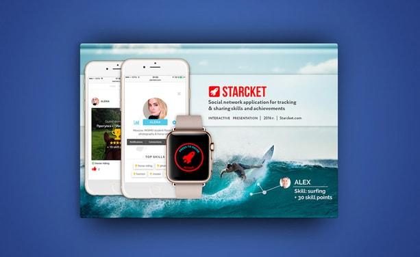 Starcket - презентация стартапа нового приложения