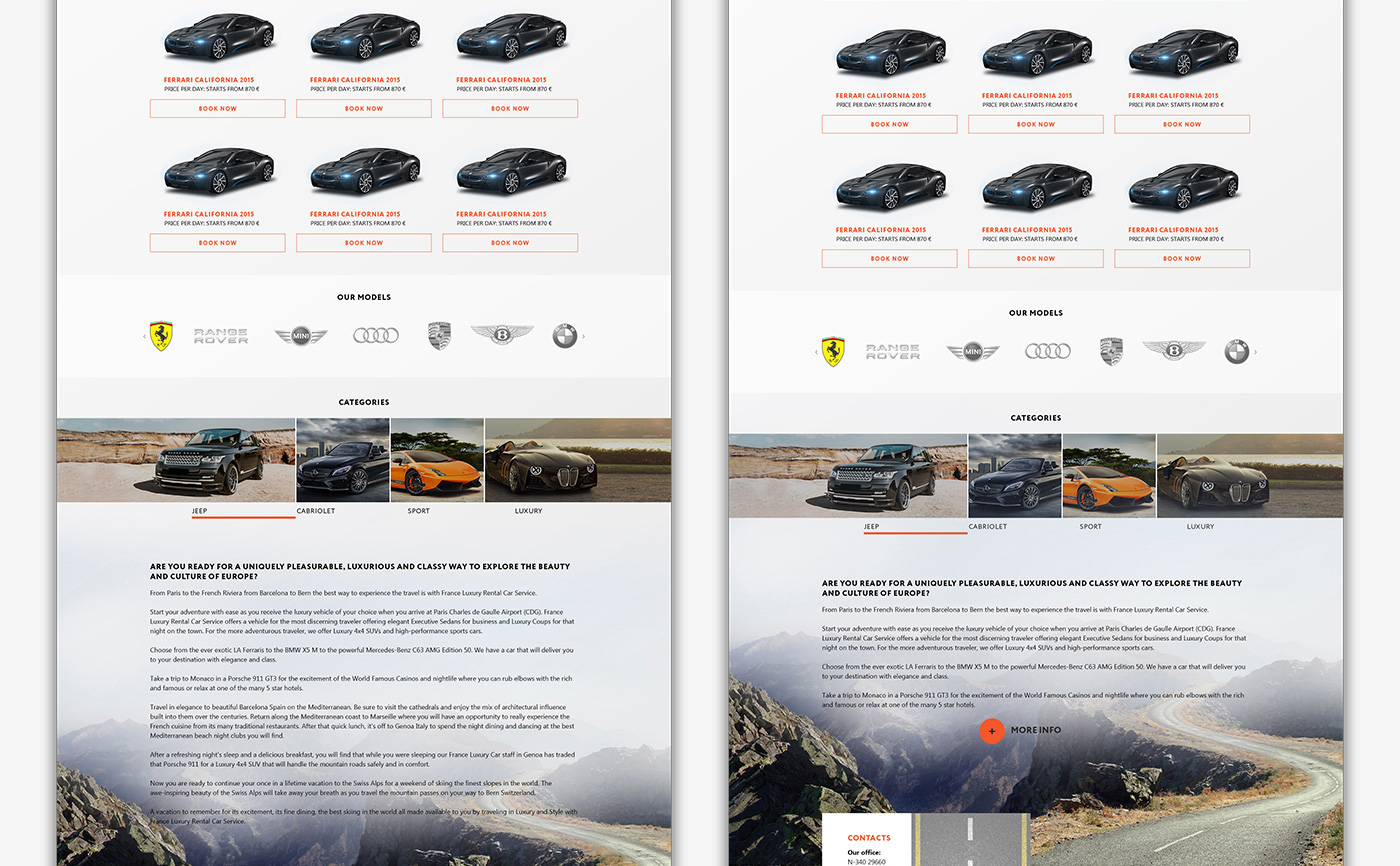 Разработка сайта для BlackPegasusCars