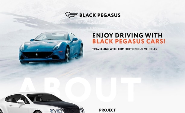 Разработка и дизайн сайта Blackpegasuscars.com