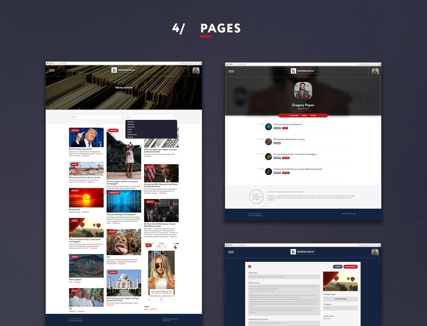 Разработка новостного портала Newshunch