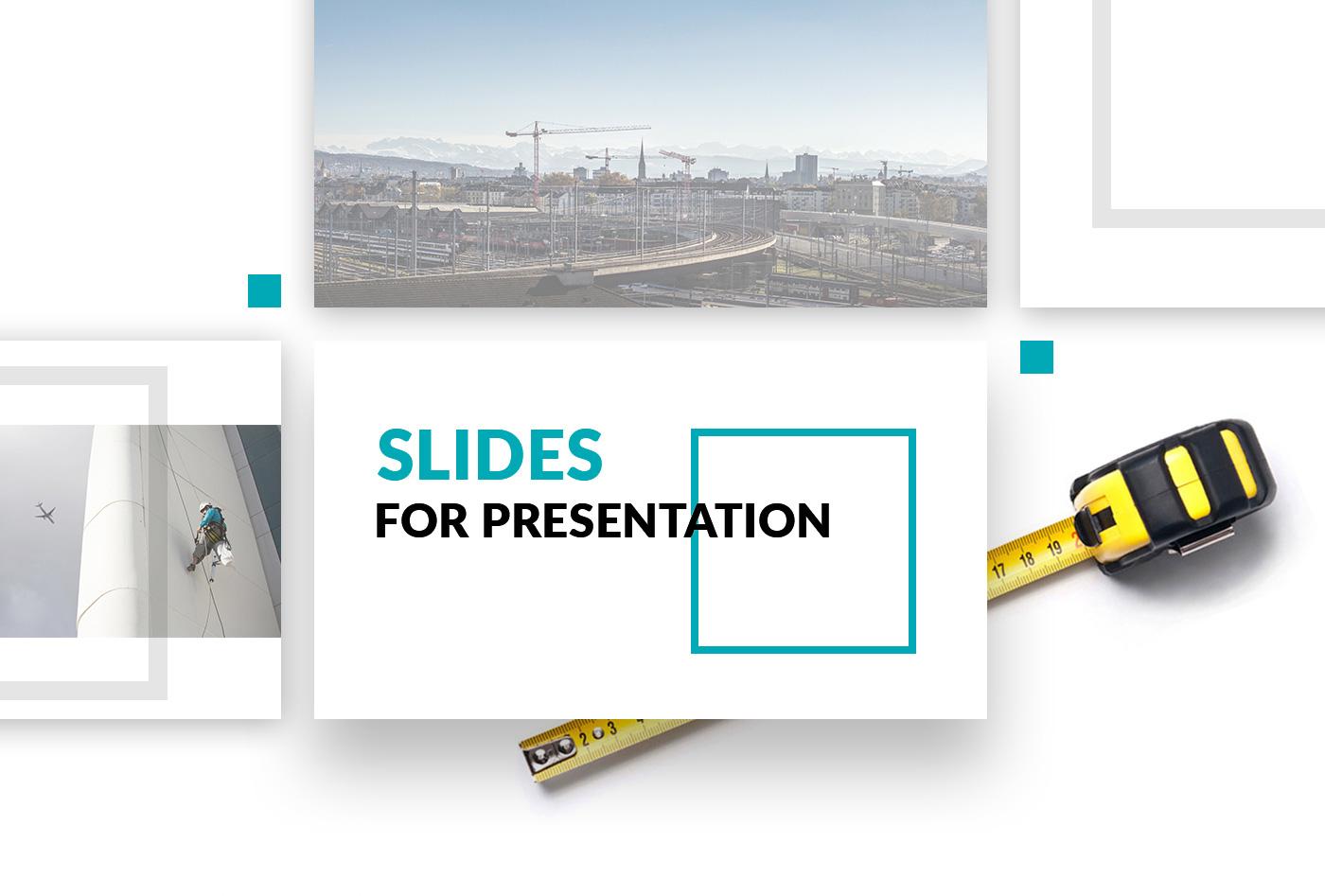 Дизайн презентации для строительной компании
