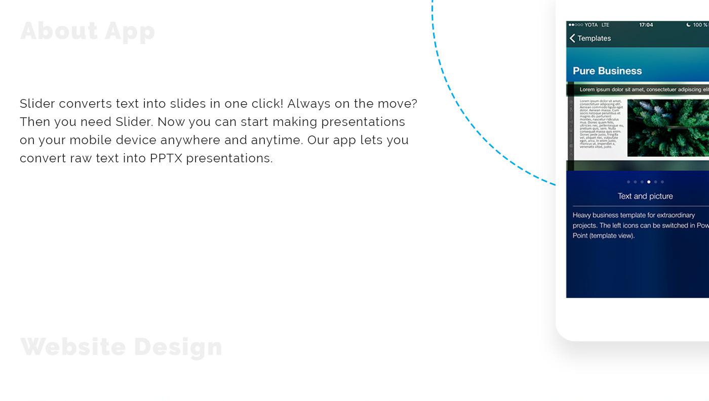 Дизайн приложения для создания мгновенных презентаций