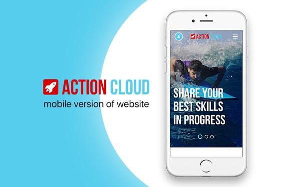 Дизайн сайта для социальной сети Action Cloud