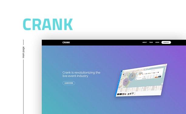 Сайт для IT компании Crank