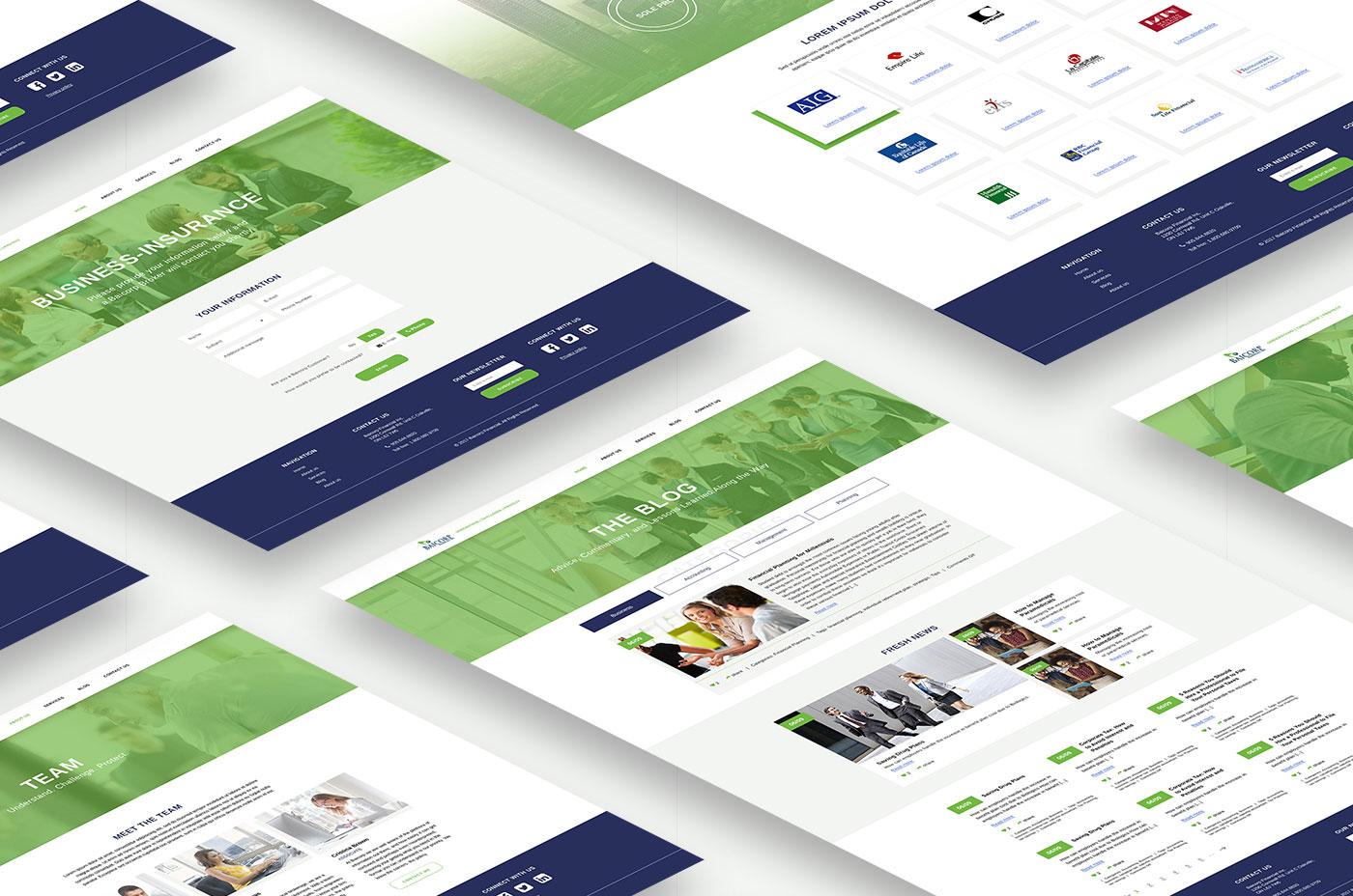 Современный дизайн сайта для Baicorp