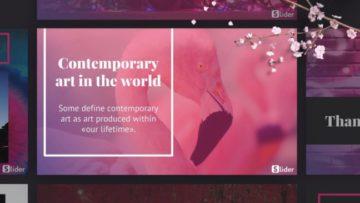 Современное искусство через шаблон презентации PowerPoint - Contemporary art