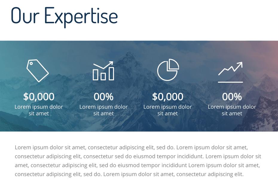 пример слайда для инвестиционных презентаций