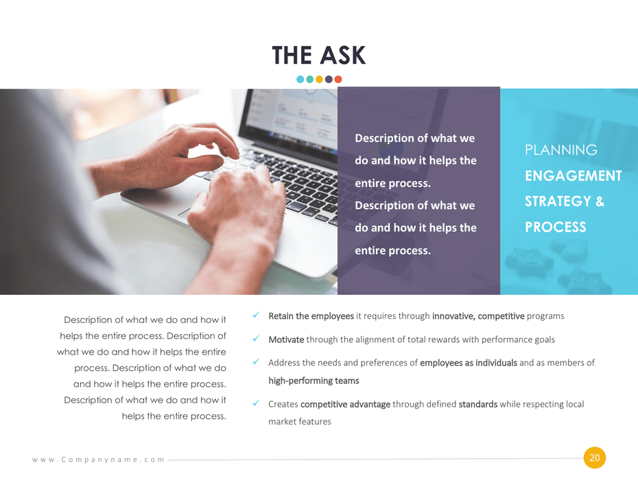слайд в инвестиционных презентациях